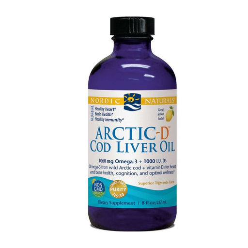 Supplements - Nordic Naturals Arctic-D Cod Liver Oil - Lemon, 237 Ml.
