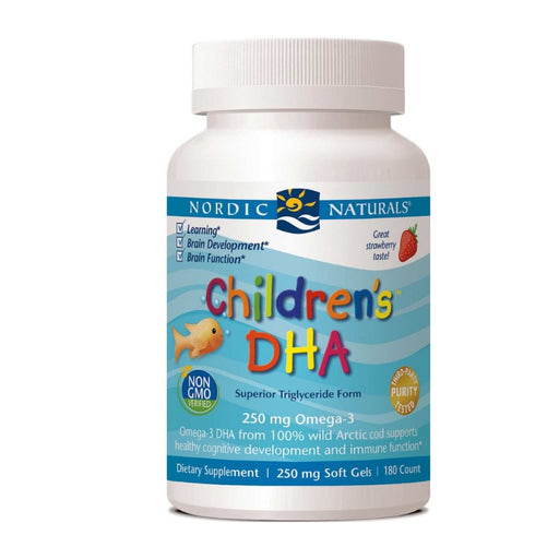 Supplements - Nordic Naturals Children's DHA 250 Mg - Strawberry, 180 Sgls.