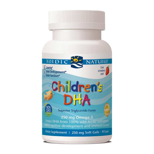 Supplements - Nordic Naturals Children's DHA 250 Mg - Strawberry, 90 Sgls.