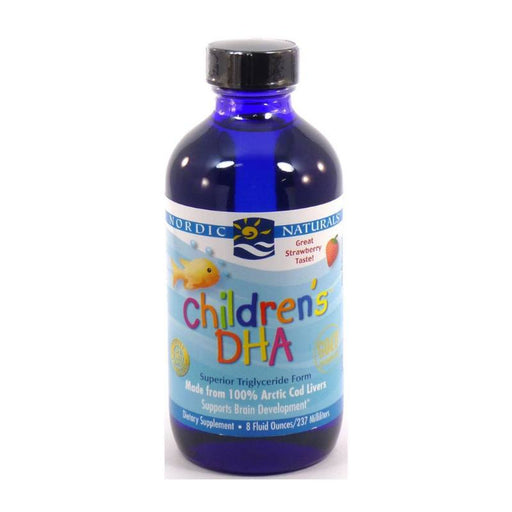 Supplements - Nordic Naturals Children's DHA Arctic Cod Liver Oil - Strawberry, 237 Ml.