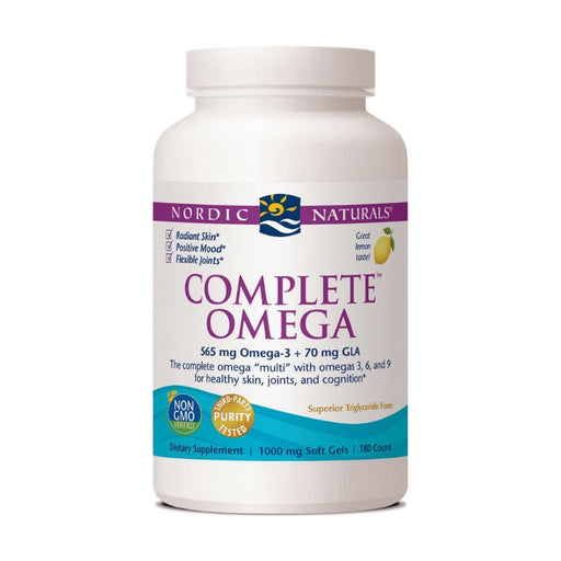 Supplements - Nordic Naturals Complete Omega 1000 Mg - Lemon, 180 Sgls.