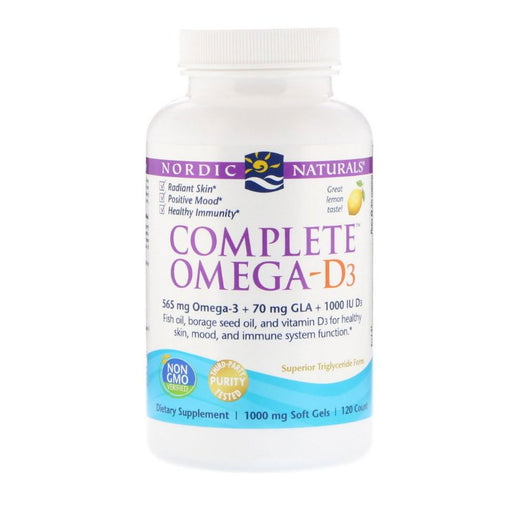 Supplements - Nordic Naturals Complete Omega-D3 1000 Mg - Lemon, 120 Sgls.