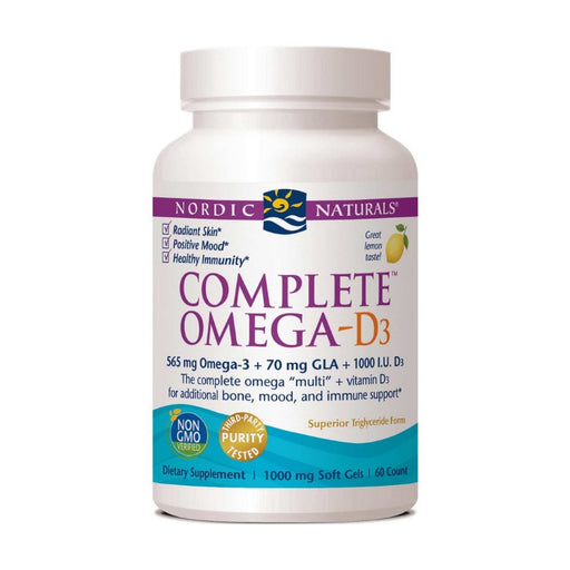 Supplements - Nordic Naturals Complete Omega-D3 1000 Mg - Lemon, 60 Sgls.
