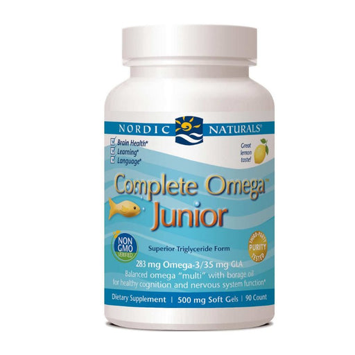 Supplements - Nordic Naturals Complete Omega Junior 500 Mg - Lemon, 90 Sgls.