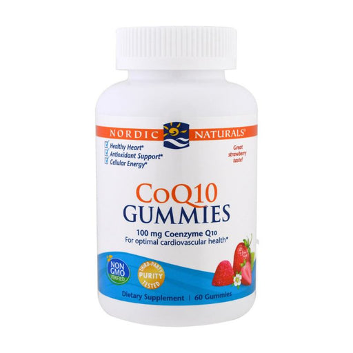 Supplements - Nordic Naturals CoQ10 Gummies - Strawberry, 60 Gums.