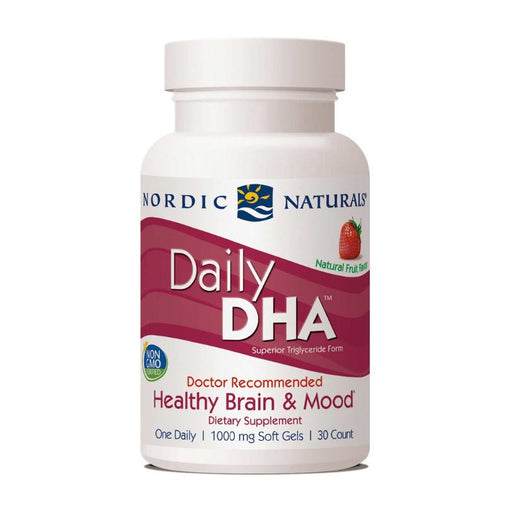 Supplements - Nordic Naturals Daily DHA - Strawberry, 30 Sgls.