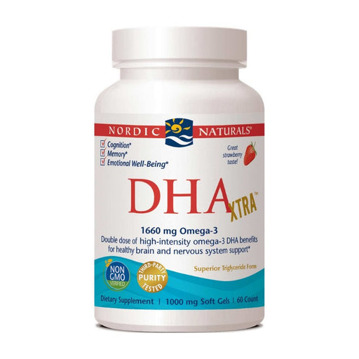 Supplements - Nordic Naturals DHA Xtra 1000 Mg - Strawberry, 60 Sgls.