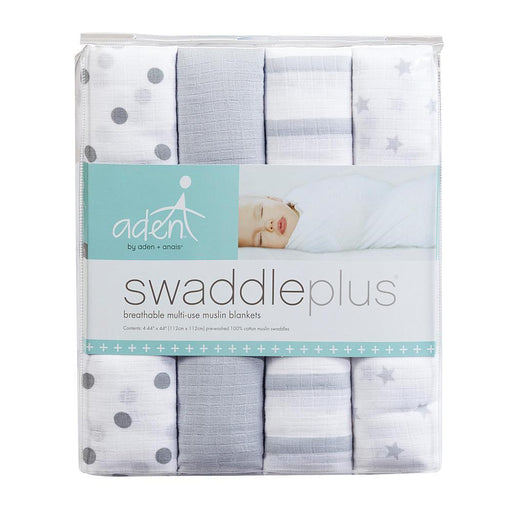 Swaddle - Aden+Anais Muslin Swaddleplus 4-Pack - Dove