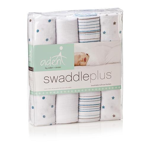Swaddle - Aden+Anais Muslin Swaddleplus 4-Pack - Oh Boy