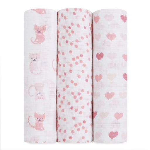 Swaddle - Ideal Baby By The Makers Of Aden + Anais Swaddles 3 Pack - Kitty Love