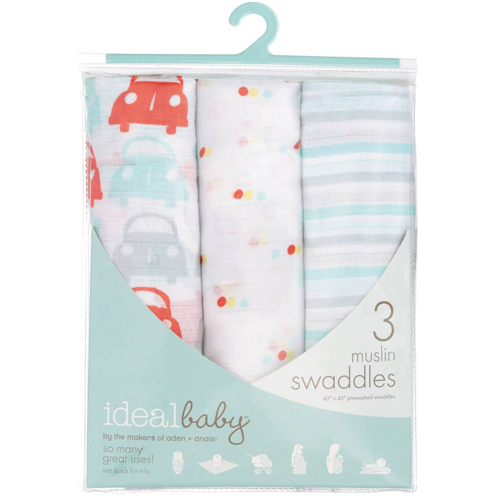 Swaddle - Ideal Baby By The Makers Of Aden + Anais Swaddles 3 Pack - Road Trip