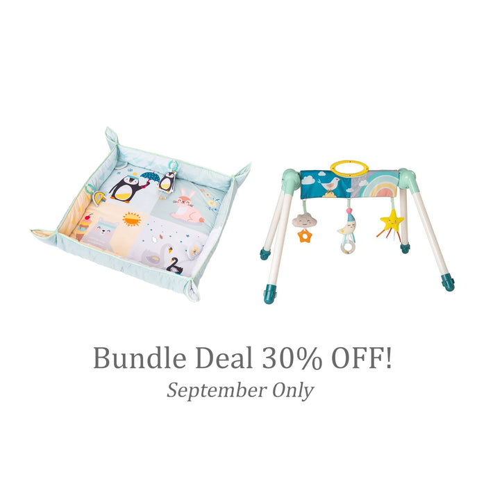 Bundle Deal (Sept 2020 only!) | Taf Toys North pole 4 Seasons Mat + Mini Moon Take To Play Baby Gym