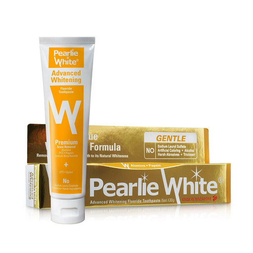 Toothpaste - Pearlie White Advanced Whitening | Fluoride Toothpaste 130gm