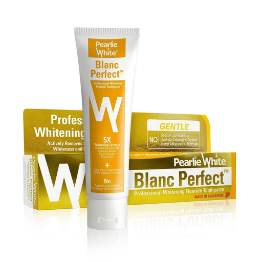 Toothpaste - Pearlie White Blanc Perfect | Professional Whitening Fluoride Toothpaste 110gm