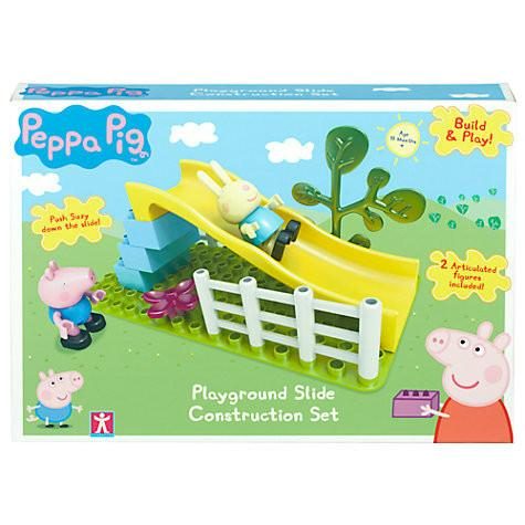Toys - PEPPA PIG - Playground Slide Construction Set (with George And Rebecca)