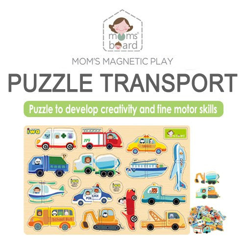 Momsboard Magnetic Puzzle – Transport (Opp)
