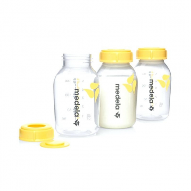 Medela Breast Milk Storage Bottles 150ml 3 IN 1 w/Print