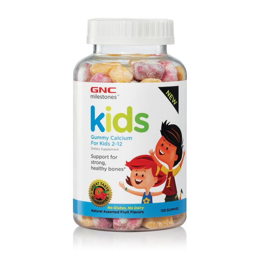 Vitamins - GNC Milestones™ Kids Gummy Calcium Assorted Fruits Flavors (120 Gummies)