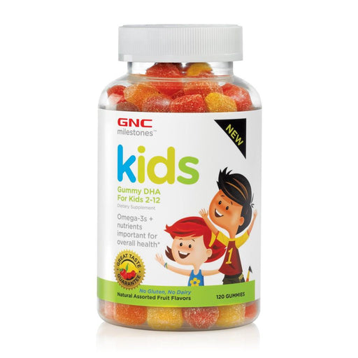 Vitamins - GNC Milestones™ Kids Gummy DHA Natural Assorted Fruit Flavors (120 Gummies)