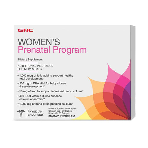 Vitamins - GNC Women's Prenatal Program (30 Day Program)