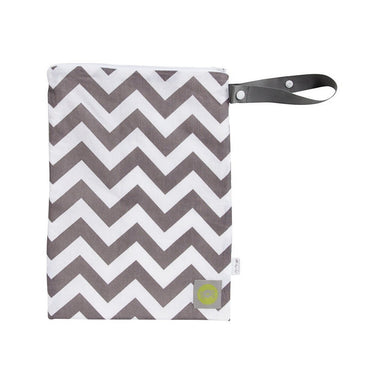 Wet Bag - Itzy Ritzy Travel Happens™ Sealed Wet Bag With Handle - C.GREY CHEVRON
