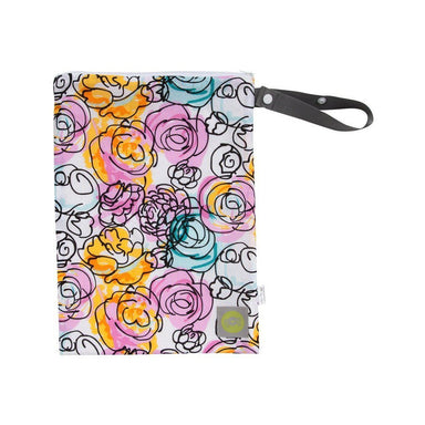 Wet Bag - Itzy Ritzy Travel Happens™ Sealed Wet Bag With Handle - WATERCOLOR BLOOM