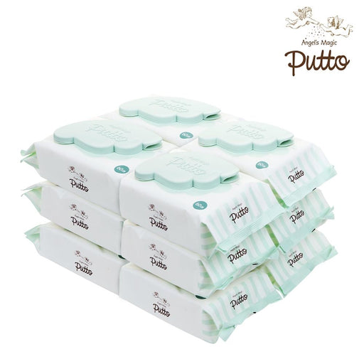 Wet Wipes - Putto Secret Premium Embossing Baby Wet Tissue W/CAP 60 Sheets X 12 Packs