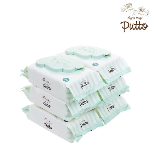 Wet Wipes - Putto Secret Premium Embossing Baby Wet Tissue W/CAP 60 Sheets X 6 Packs