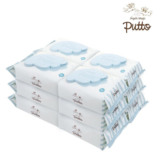 Wet Wipes - Putto Secret Premium Embossing Baby Wet Tissue W/CAP 70 Sheets X 12 Packs