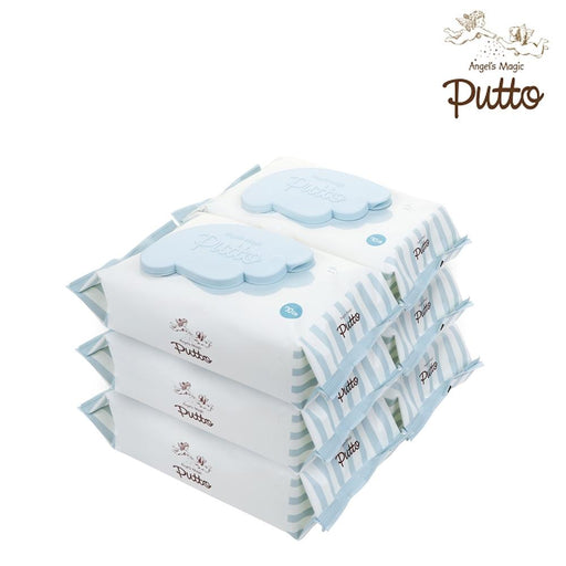 Wet Wipes - Putto Secret Premium Embossing Baby Wet Tissue W/CAP 70 Sheets X 6 Packs