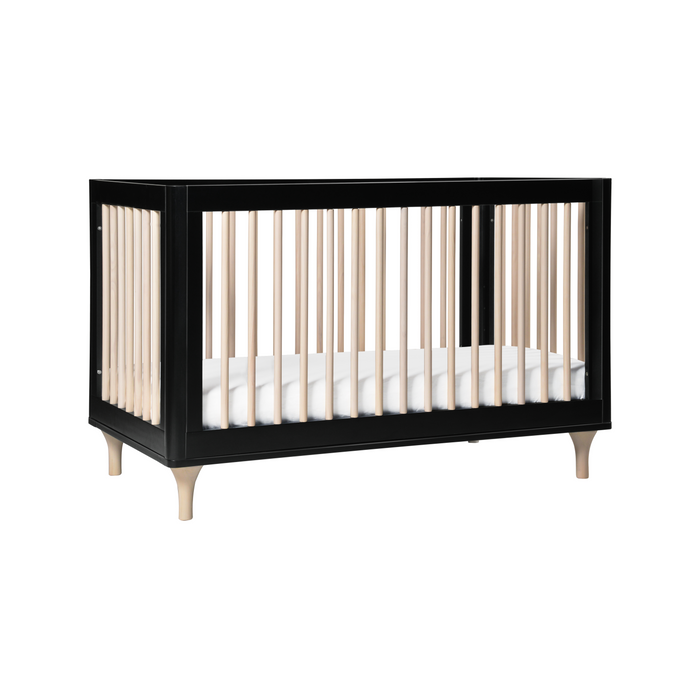 Babyletto Lolly 3-in-1 Convertible Crib with Toddler Bed Conversion Kit (Black/Washed)
