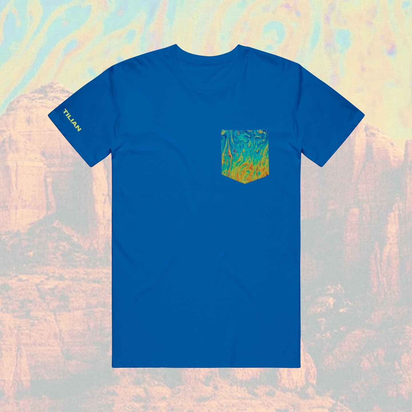 Fluidity Custom Pocket Royal Blue T-Shirt
