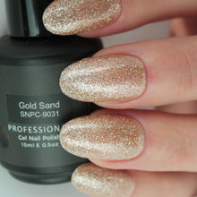 Load image into Gallery viewer, Gold Sand Gel Nail Polish from Saintnails.com
