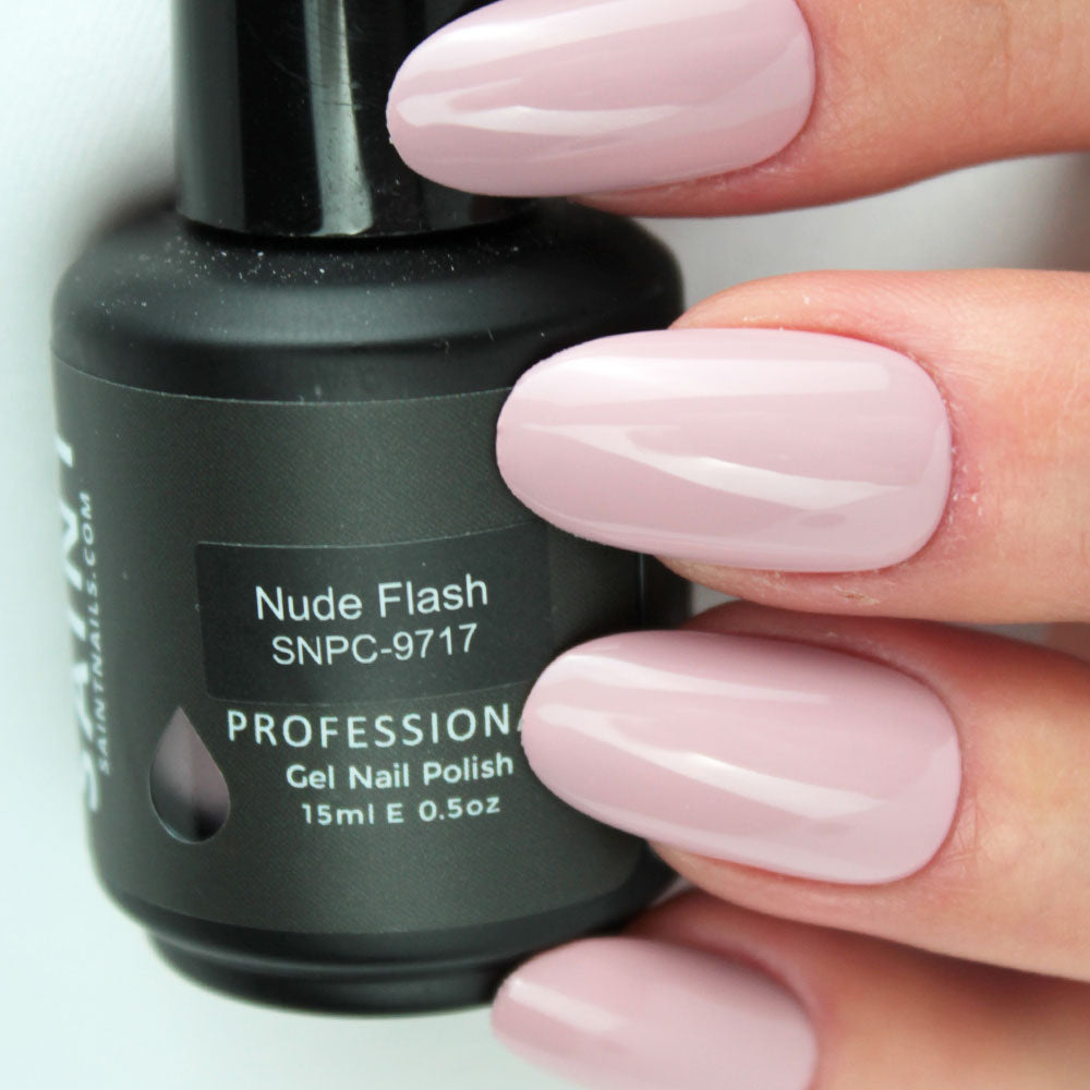 Nude Flash Gel Nail Polish from Saintnails.com