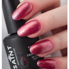 Frosted Berry Gel Nail Polish from Saintnails.com