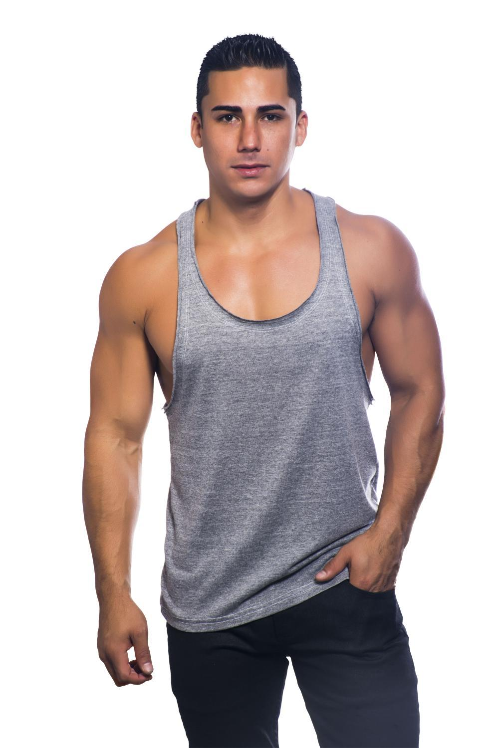 Vibe Racer Back Gym Tank VINTAGE HEATHER By Andrew Christian  アンドリュークリスチャン(アンクリ)