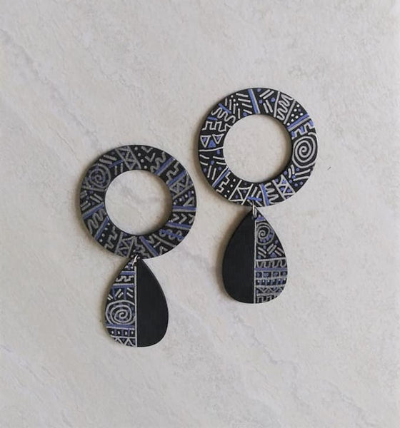 Charmaine Tribal Print Stud Earrings