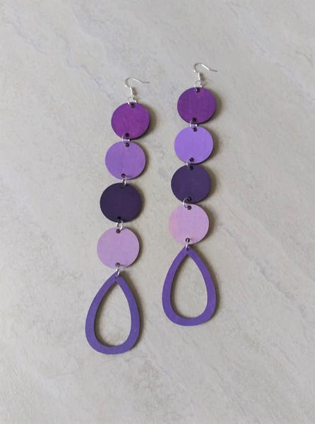 Purple Reign Drop Earrings
