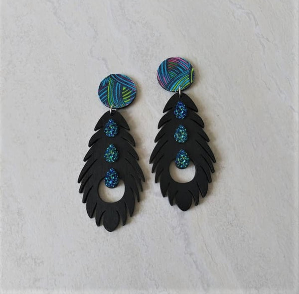 Meilani Feather Drop Earrings