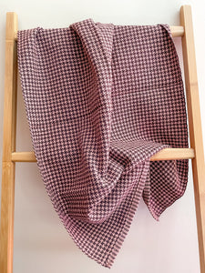 Cricket Loom Houndstooth Plaid Towels Pattern