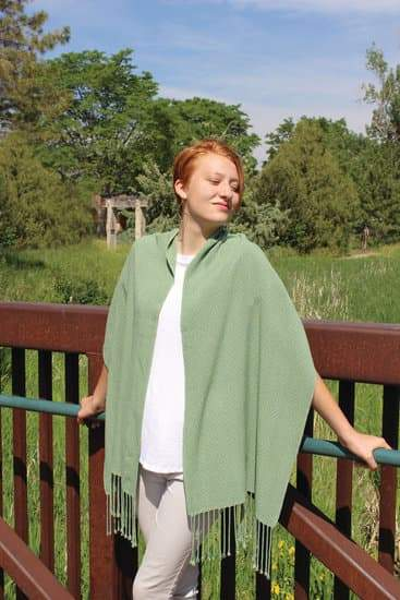 Peace of My Heart Prayer Shawl in Tencel 8/2