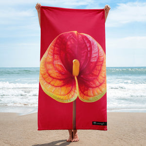"Beach towel ""flowers"""