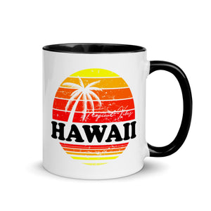 "Inside color mug ""Hawaii"""