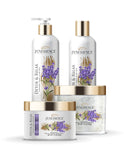 Detox & Relax Therapeutic Skincare Bundle (Lavender, Lemon, Clary Sage) Body Lotion, Wash, Scrub, Bath Salt
