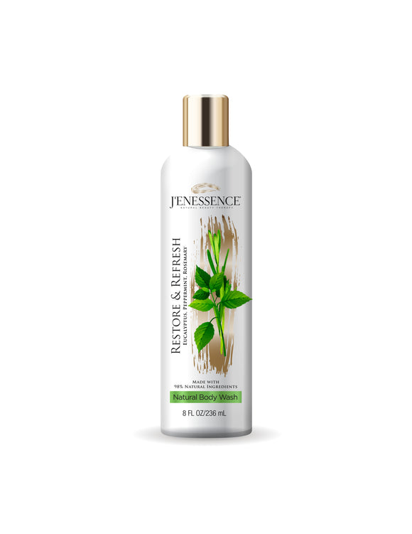 Restore & Refresh Natural Therapeutic Body Wash (Mint, Eucalyptus, Rosemary)