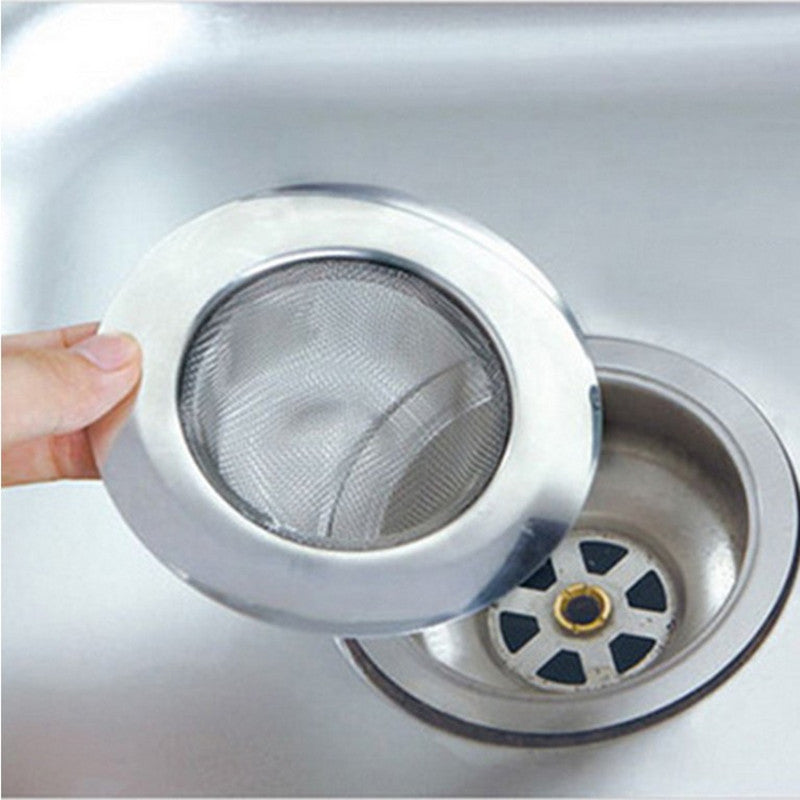 Kitchen bathroom sink stainless steel sewer filter leaking net