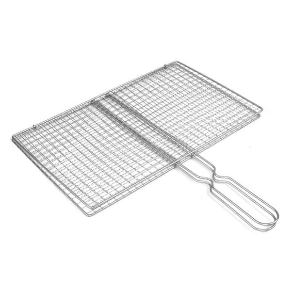 Non-stick Triple Fish Grilling Basket Metal Handle Bbq Bbq Fish Rack Fish Grill Grilling Barbecue Outdoor Tool Accessories N8K8