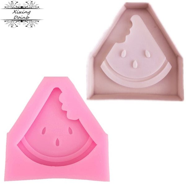 DIY fruit watermelon silica gel soft candy cake mold chocolate candy biscuit mold Summer Party Cake Decoration baking tool