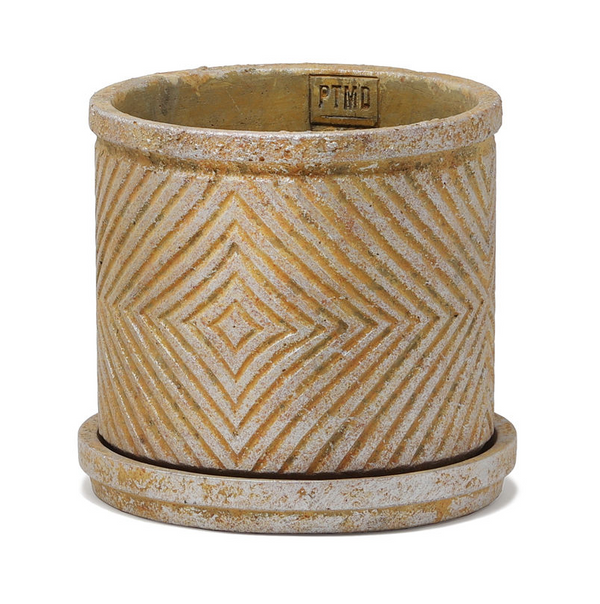 P.T.M.D Ruiten cement pot L gold 691456
