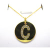 Disc Initial Pendant Necklace